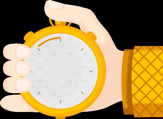 Рисунок руки с часами